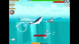 Best Simulation Games to Play for Android/iOs- Hungry Shark Evolution  Withe Shark