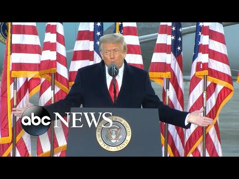 Donald Trump's final remarks as president l ABC News