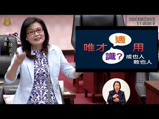 108年5月31日陳若翠市議員市政總質詢