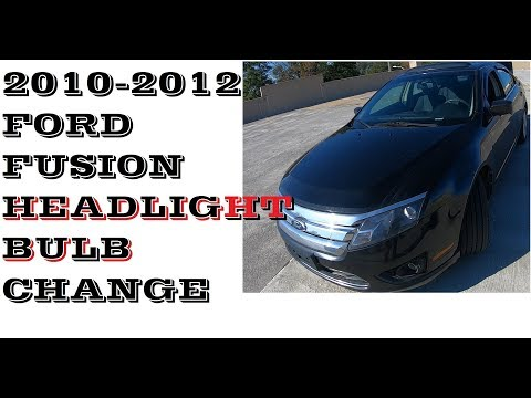 How to Change Replace Headlight bulbs in 2010-2012 Ford Fusion / Mercury Milan