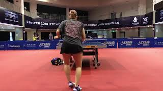 Professional Ping Pong Players Player Have Intense Match - 1018974-2