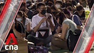 Flash mob protests across Hong Kong as anger mounts over police shooting