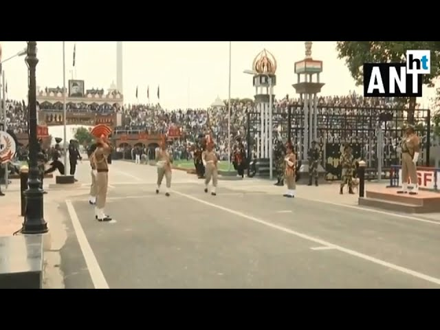 Watch: Beating retreat ceremony at Attari-Wagah border on I-day eve