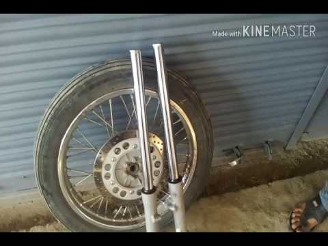 change Royal Enfield front shocker oil and replace soccer seal