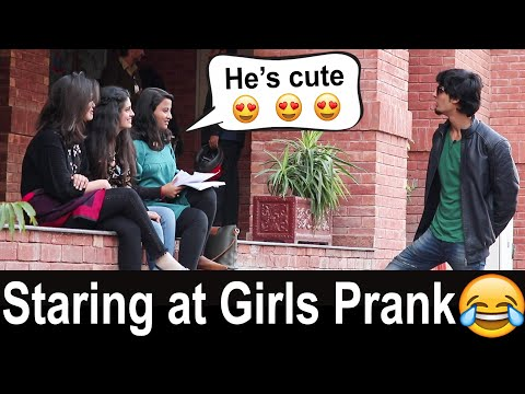 STARING AT GIRLS in Pakistan Prank