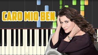 """Cecilia Bartoli - """"Caro mio ben"""" (Piano Tutorial Synthesia)"""