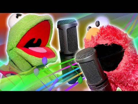 Elmo And Kermit The Frog Do ONLINE KARAOKE!