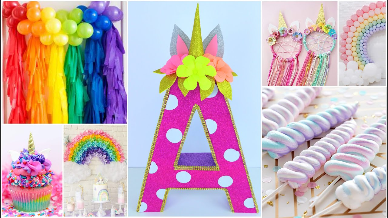 Birthday Decoration Ideas At Home Diy Unicorn 3d Letter For Room Decor Baby Shower Diy Youtube
