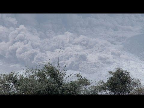 Pyroclastic Flows At Gunung Sinabung Volcano, Indonesia.