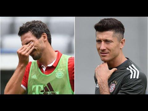 Mats Hummels & Robert Lewandowski involved in heated spat during Bayern training