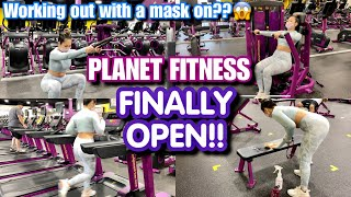 PLANET FITNESS FINALLY OPEN! THIS WAS MY FULL BODY WORKOUT | SAAVYY