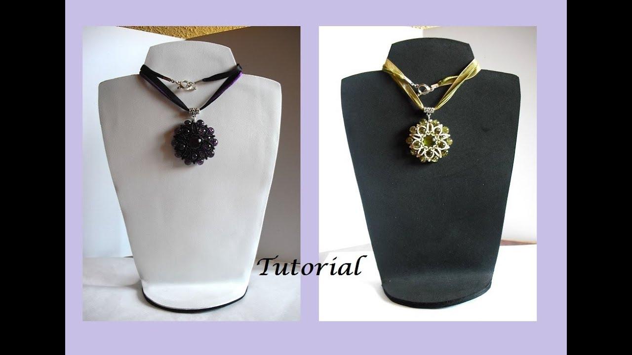 Tutorial expositor reversible para collares en goma eva - Para colgar collares ...