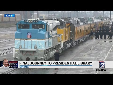 Bush 4141 train carries president to final resting place, part 1