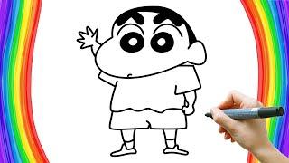怎样画蜡笔小新 Crayon Shin Chan