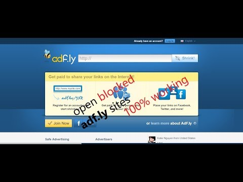 How to open adfly blocked links | adf.ly