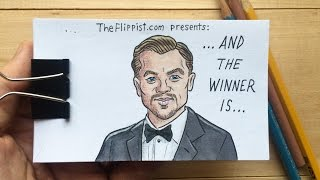 Un-BEAR-able Flipbook Animation of Leonardo DiCaprio Winning His First Oscar