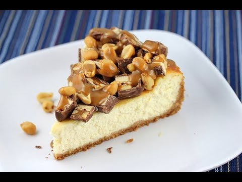 TASTY PEANUT BUTTER SNICKERS CHEESECAKE