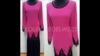 Baju Kurung Moden ,Peplum dan Jubah Moden 2014 -Koleksi Edelweiss