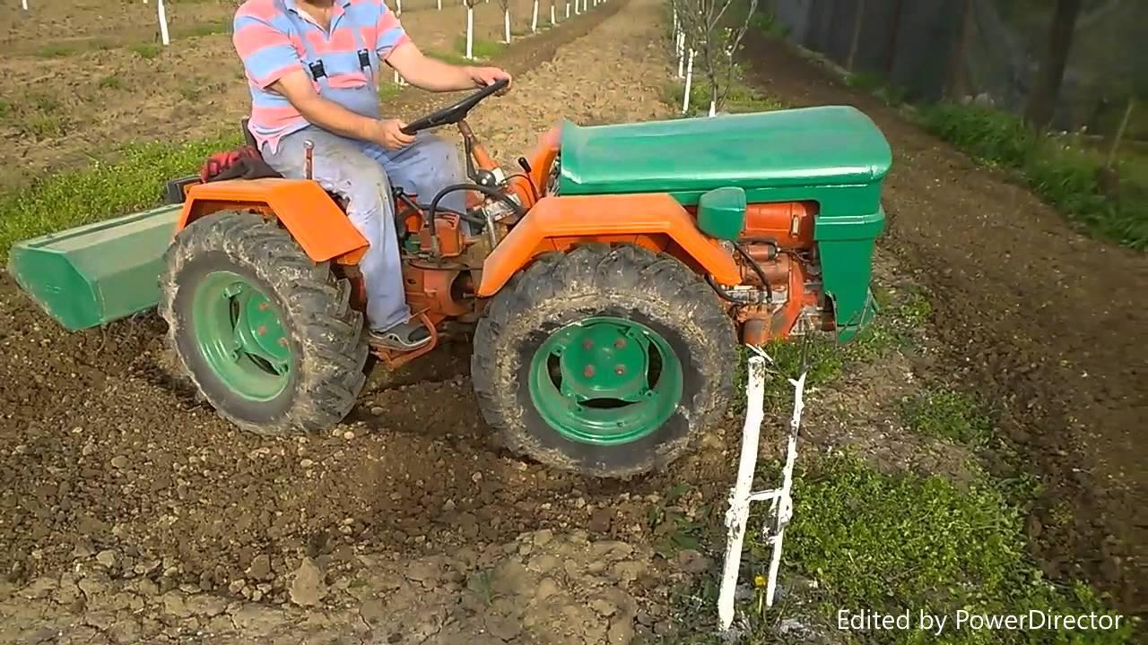 THE BEST garden tractor NIBBI 4X4 lombardini engine con fresa ...