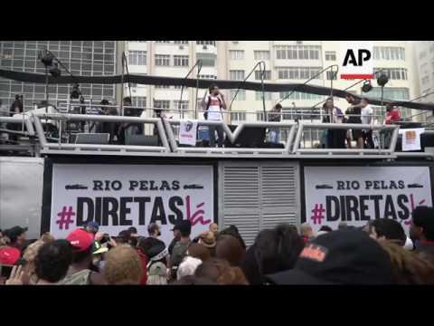 Concert in protest against Brazil president