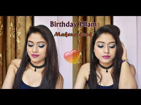 birthday-glam-makeup-look-ǀ-monotone-blue-makeup-ǀ-ayushi-gautam