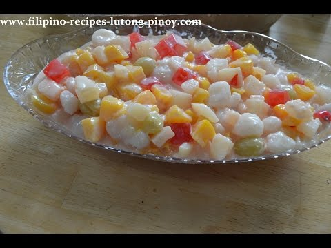 Fruit Salad Filipino Style Pinoy Favorite With Nestle Cream
