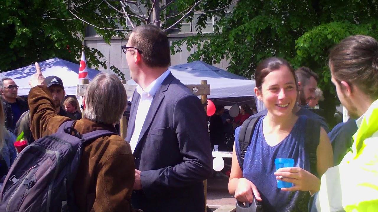 Raoul Hedebouw, Gilet Jaune le 1er mai 2019 à Liège