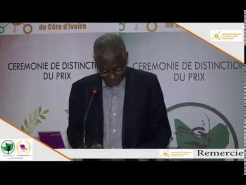 """Cérémonie de remise du « Prix """"CEDEAO - Alfred Dan Moussa » et « Prix Côte d'Ivoire - Samba Koné »"""