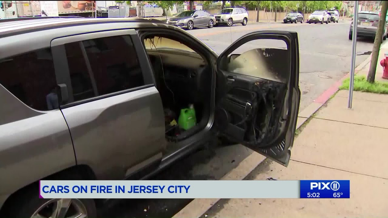 Multiple cars on fire in Jersey City