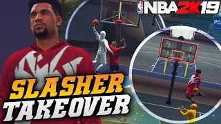 NBA 2K19 Park: Dunking Like Zion With The Slasher! Close Game! NBA 2K19 Park Gameplay