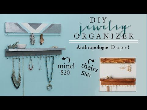 DIY Jewelry Organizer   DIY Anthropologie Decor