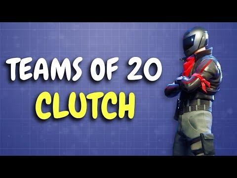 LAST MAN VERSUS 16! | Teams of 20 | 25 Kills (Fortnite)
