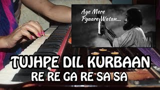 Ae Mere Pyare Vatan - Harmonium Tutorial with Notation by Rashmi Bhardwaj