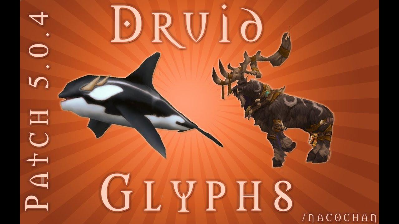 World of Warcraft: Druid 5.0.4 Glyphs & STAG DANCE! - YouTube