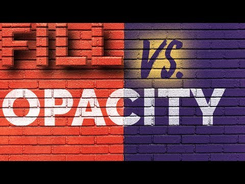 Difference Between Fill and Opacity in Photoshop and How to Exploit It