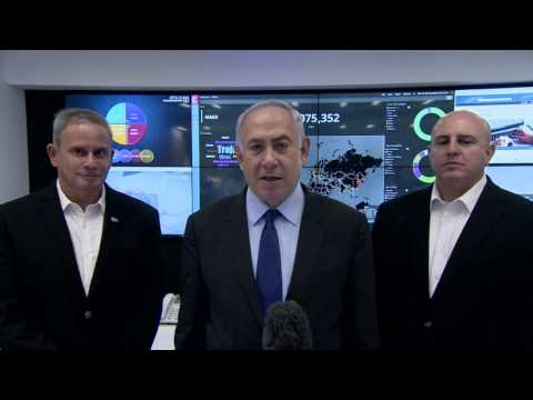 PM Netanyahu Visits National Cyber Defense Authority National Cyber Event Response Center