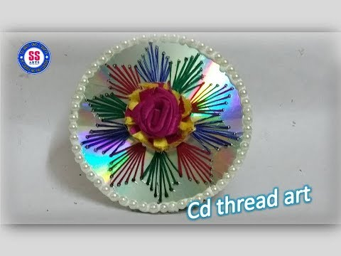 How  To Make String Art in CD /Best out of the Waste/ cd wall decor/cd gift item
