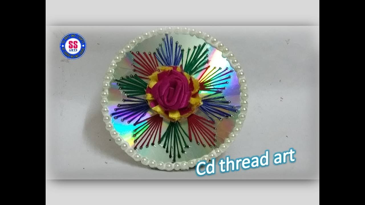 How To Make String Art In Cd Best Out Of The Waste Cd