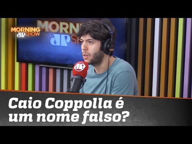 Caio Coppolla é um nome falso? Nota de esclarecimento