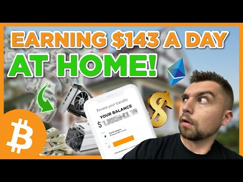 I'm EARNING $143 A DAY?! Mining Bitcoin And Crypto Coins At Home!