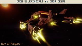 Elite Dangerous PVP | CMDR DEZPE (Railgun Fight)