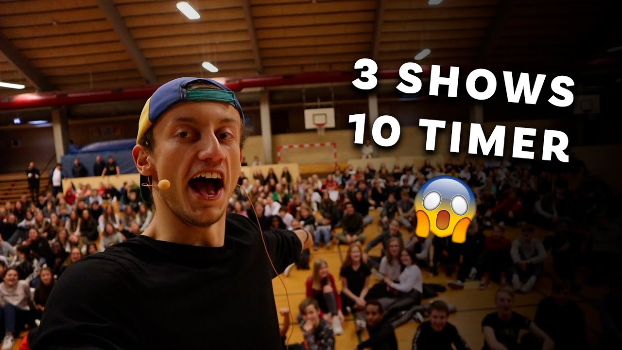 3 SHOWS PÅ 10 TIMER?!