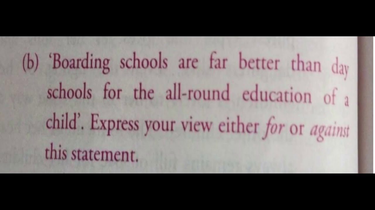 Download Boarding schools are far better than day school for all round education of the child