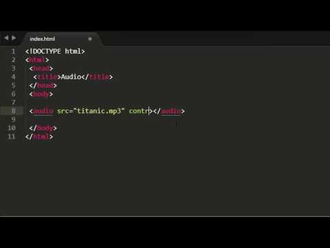 HTML Tutorials - 45 - Adding Audio To Website (HTML5 Audio)