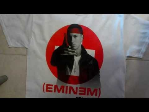 T-Shirt Eminem Recovery (2010) (unboxing)