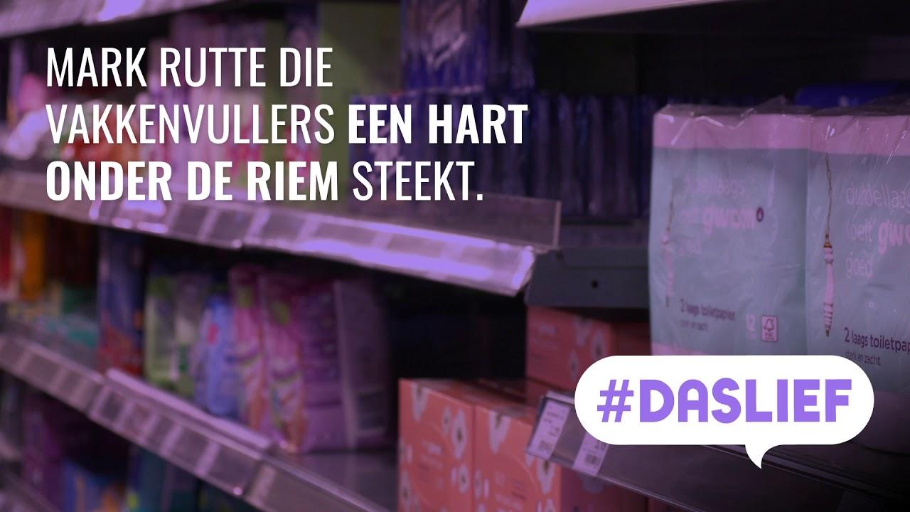 Sire: #Daslief - Mark Rutte spreekt vakkenvullers moed in