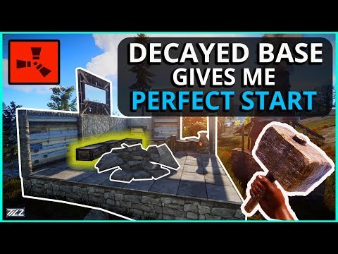 This DECAYED BASE Gave Me The PERFECT START! Rust Solo Survival (Episode 1)