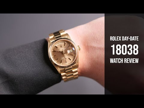 Men's Used Rolex President Gold Day-Date 18038 Watch Review | Bob's Watches