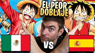 ESPAÑOL REACCIONA AL DOBLAJE LATINO VS CASTELLANO DE ONE PIECE | VIDEO DE JEFFAR VLOGS