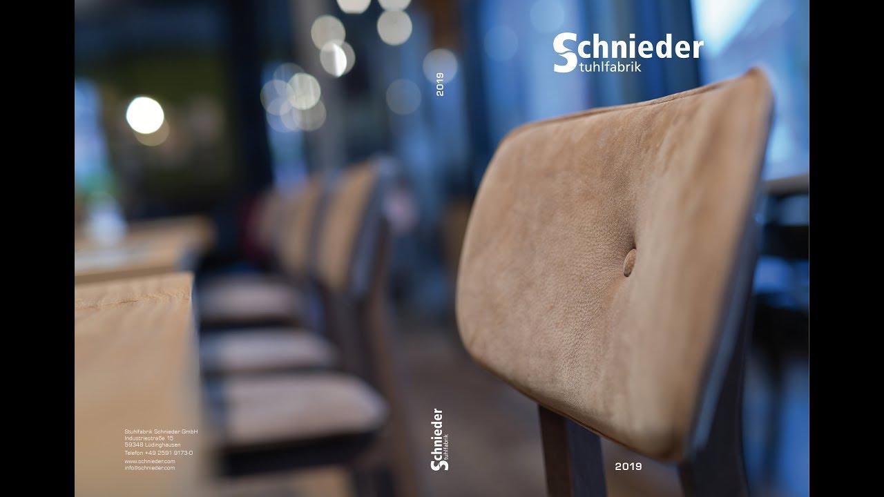 Katalog 2019 Stuhlfabrik Schnieder Youtube